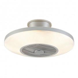 Lámpara Plafón de Techo con Ventilador modelo Viena Plata Luz LED Regulable