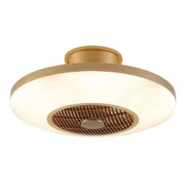 Lámpara Plafón de Techo con Ventilador modelo Viena Oro Luz LED Regulable