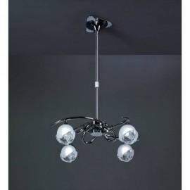 Lámpara Telescópica Colgante Bali Cromo 4 Luces
