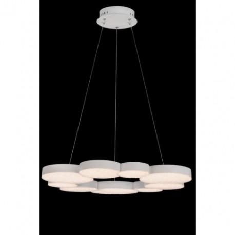 Lámpara Colgante LED Mantra Lunas Blanco 9 Circulos Luz Cálida 76W