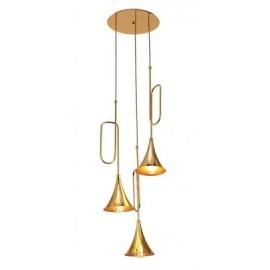 Lámpara Colgante Mantra Jazz Oro Oro Brillo 3 Luces