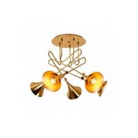 Plafón de Techo Mantra Jazz Oro Oro Brillo 3 Luces
