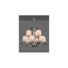 Lámpara Colgante Mantra Andrea Cromo 9 Luces