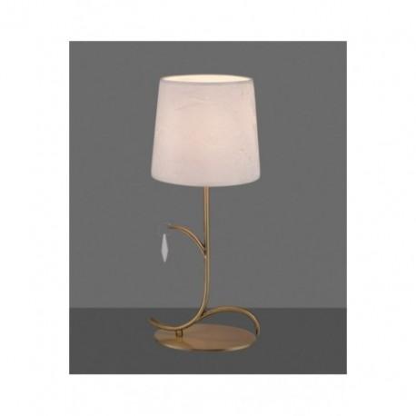 Lámpara de Sobremesa Mantra Andrea Cuero Satinado 1 Luz