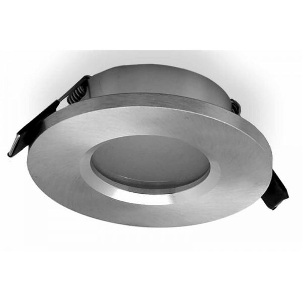 Foco Empotrable Mantra Atlantis Aluminio Y Plata Redondo 1 Luz