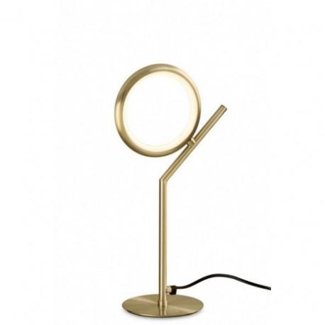 Lámpara de Sobremesa LED Mantra Olimpia Oro Satinado Luz Cálida 8W
