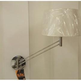 Aplique de Pared Articulado Cromo con Pantalla Blanca e Interruptor 45cm