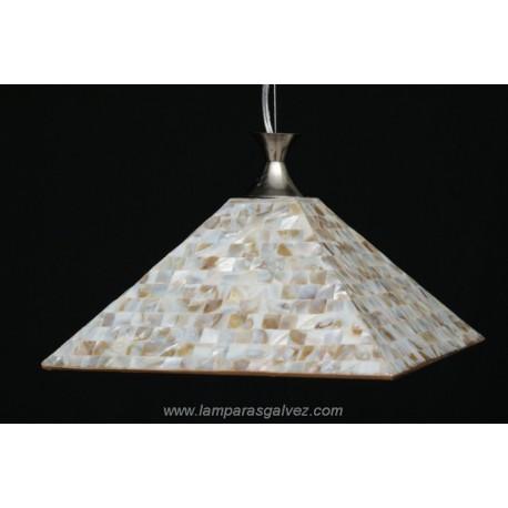 Lámpara Colgante con Pantalla Cuadrada Mosaico Claro 30cm