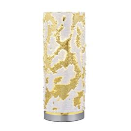 Lámpara de Sobremesa Trio Pail Blanco y Oro 1 Bombilla E14 40cm