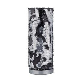 Lámpara de Sobremesa Trio Pail Negro y Plata 1 Bombilla E14 40cm