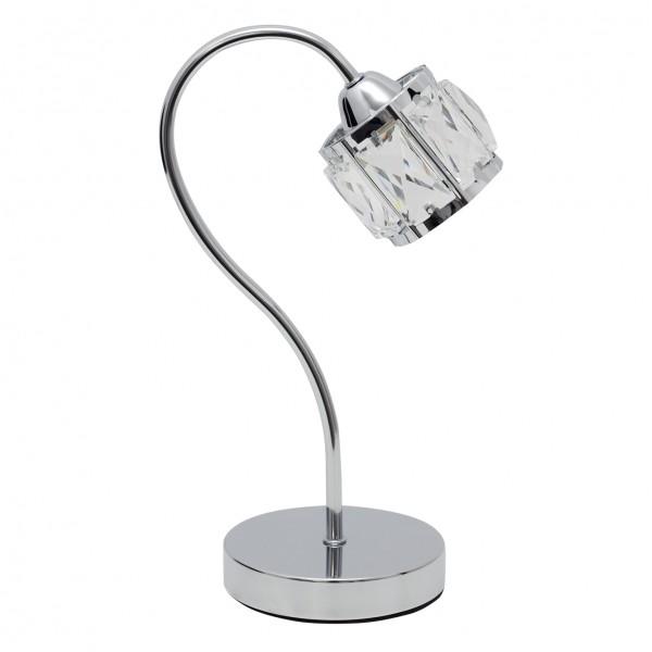 Lámpara de Sobremesa Fabrilamp Esencia Cromo 1 bombilla G9