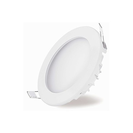 Downlight LED Empotrable Blanco 8W Redondo 10,5cm Luz Neutra