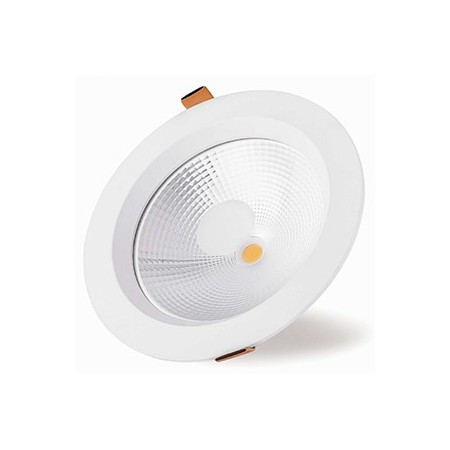 Downlight LED Empotrable Blanco 25W Redondo 22cm Luz Cálida