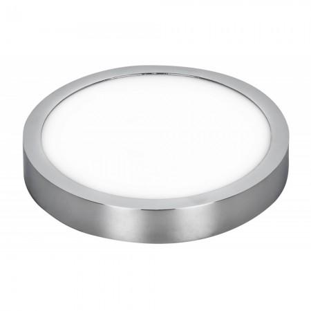 Downlight LED Superficie Fabrilamp Talisman 24W Cromo Redondo 22,5cm Luz Blanca