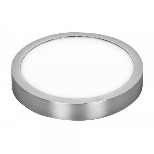Downlight LED Superficie Fabrilamp Talisman 24W Cromo Redondo 22,5cm Luz Neutra