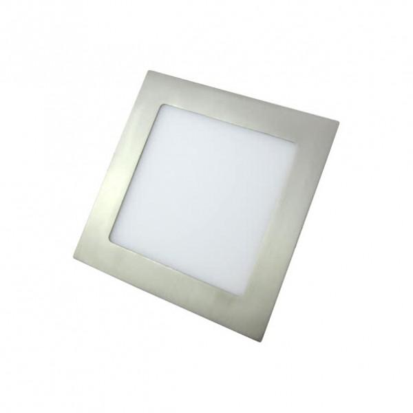 Downlight LED Empotrable Fabrilamp Anubis 12W Níquel Mate Cuadrado 17cm Luz Blanca