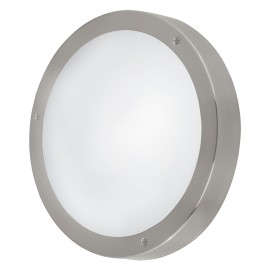 Lámpara de Exterior para Pared o Techo LED Eglo Vento 1 Níquel Mate Luz Cálida 11W