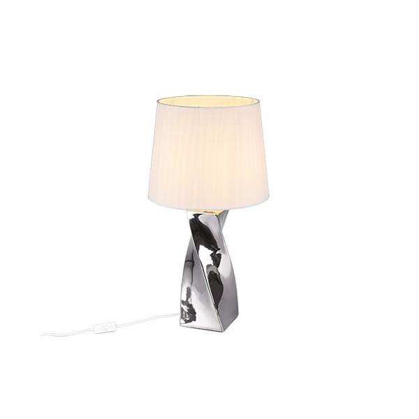Lámpara de Sobremesa Trio Abeba Plata 1 Bombilla E27 68cm