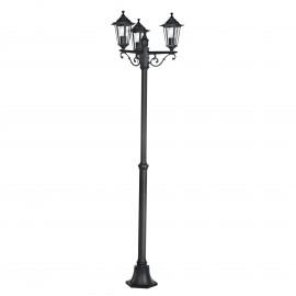 Lámpara de Pie para Exterior Eglo Laterna 4 Negro 3 Bombillas E27 55cm