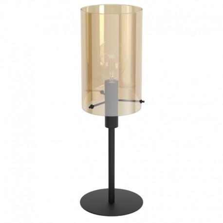 Lámpara de Sobremesa Eglo Polverara Negro y Ámbar 1 Bombilla E27