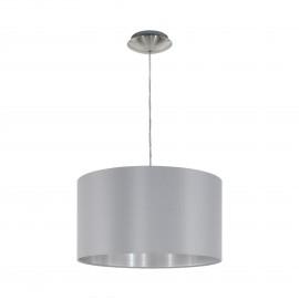 Lámpara Colgante Eglo Maserlo Gris y Plata 1 Bombilla E27 38cm