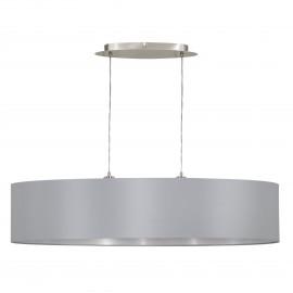 Lámpara Colgante Eglo Maserlo Gris y Plata 1 Bombilla E27 100cm