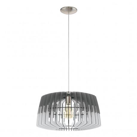 Lámpara Colgante Eglo Artana Gris y Blanco 1 Bombilla E27 48cm