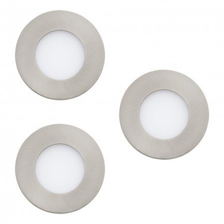 Downlight Empotrable Eglo Connect LED Fueva-C Níquel Mate Color Regulable 9W