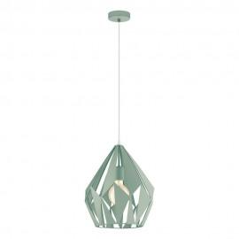 Lámpara Colgante Vintage Eglo Carlton-P Pastel Verde 1 Bombilla E27