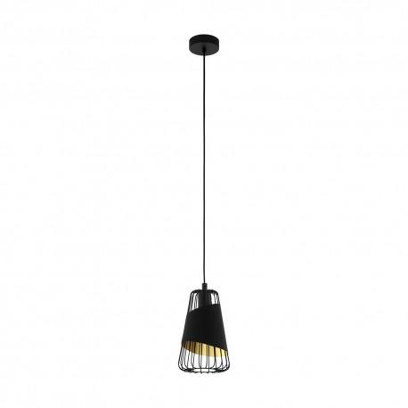 Lámpara Colgante Vintage Eglo Austell Negro 1 Bombilla E27 16,5cm