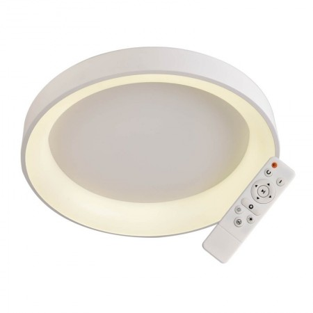 Elegant Plafón Redondo Blanco 60cm  Led con mando iluminación inteligente circadiana