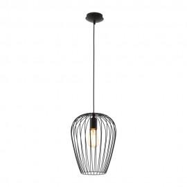 Lámpara Colgante Vintage Eglo Newtown Negro 1 Bombilla E27 27,5cm