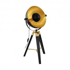 Lámpara de Sobremesa Vintage Eglo Covaleda Negro 1 Bombilla E27
