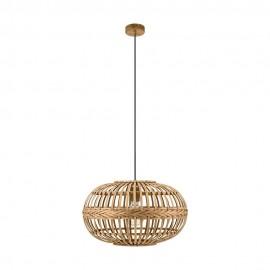 Lámpara Colgante Vintage Eglo Amsfield Marrón 1 Bombilla E27 38cm