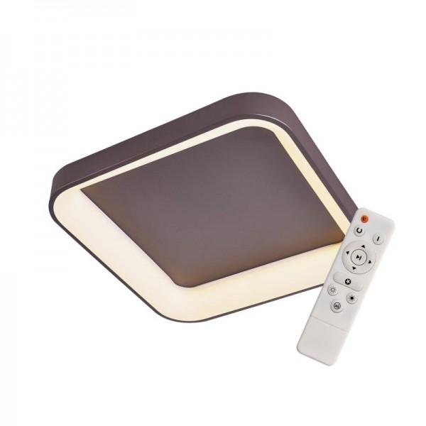 Elegant Plafón Cuadrado Chocolate 45cm  Led con mando iluminación inteligente circadiana