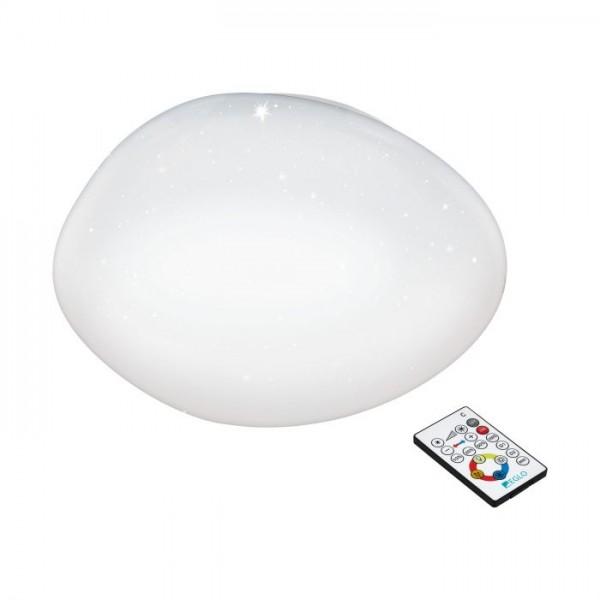 Plafón de Techo LED Eglo Sileras-A 24W Luz Regulable con Mando a Distancia