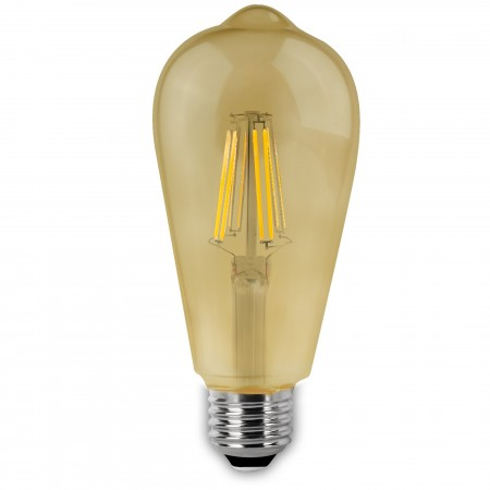 Bombilla LED Vintage Pera con Filamento 6W E27 6cm
