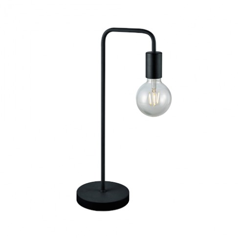 Lámpara de Sobremesa Trio Diallo Negro 51cm 1 Bombilla E27