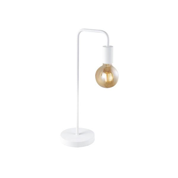 Lámpara de Sobremesa Trio Diallo Blanco 51cm 1 Bombilla E27