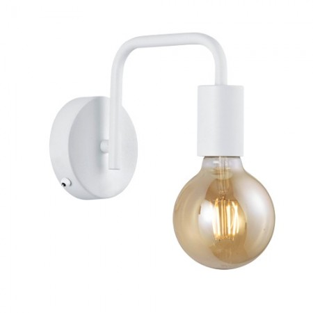 Aplique de Pared Trio Diallo Blanco 1 Bombilla E27