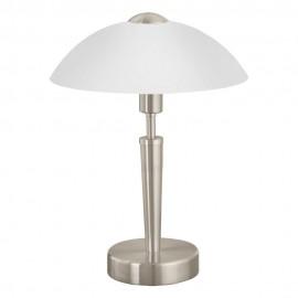 Lámpara de Sobremesa Eglo Solo 1 Níquel Mate con Regulador 1 Bombilla E14