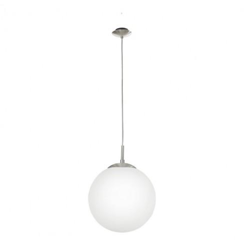 Lámpara Colgante Eglo Rondo Níquel Mate 1 Bombilla E27 30cm