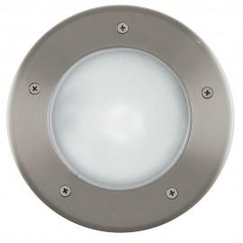 Lámpara Empotrable de Suelo Exterior Eglo Riga 3 Níquel Mate 1 Bombilla E27