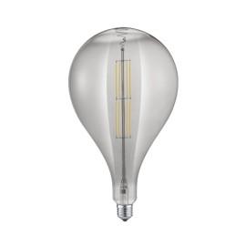 Bombilla LED Filamento Trio Tropfen Regulable Esférica Cristal Fumé 8W