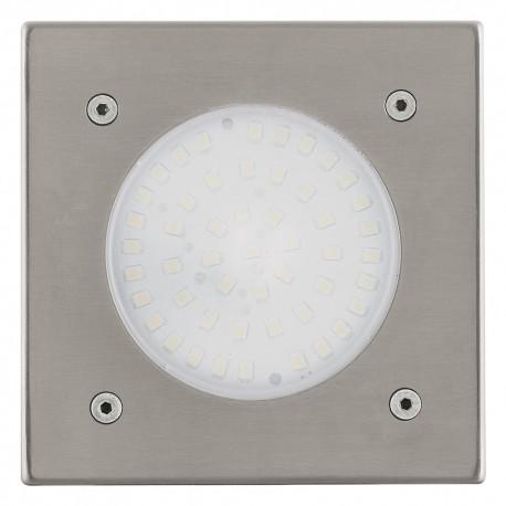 Lámpara Empotrable de Suelo Exterior LED Eglo Lamedo Níquel Mate Luz Cálida 3W