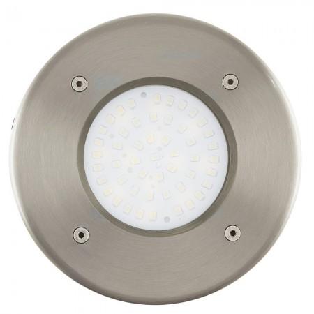Lámpara Empotrable de Suelo Exterior LED Eglo Lamedo Níquel Mate Luz Cálida 3W 10cm