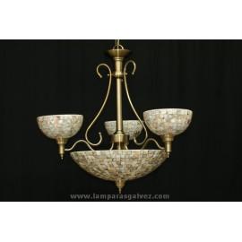 Lámpara clasica mosaico claro