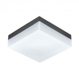 Lámpara de Exterior para Pared o Techo LED Eglo Sonella Antracita Luz Cálida 8W