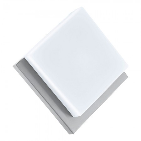Lámpara de Exterior para Pared o Techo LED Eglo Infesto 1 Níquel Mate Luz Cálida 8W