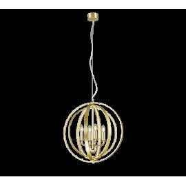 Lámpara Colgante Trio Candela Aluminio Pulido 4 Bombillas E14